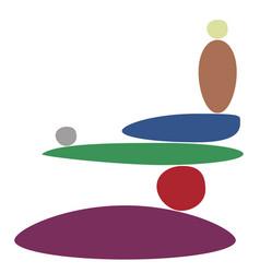 Balancing stones minimalism vector