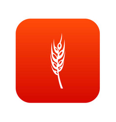 Barley spike icon digital red vector