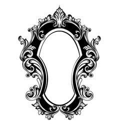 baroque mirror original frame french vector image
