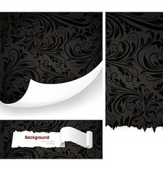 Black Floral Background Set vector