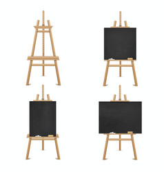 blackboard wooden easel for business education vector image
