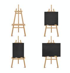 Blackboard wooden easel for business education vector