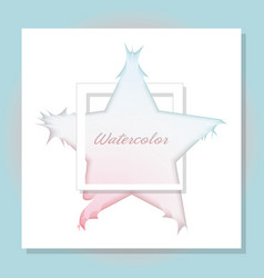blue and pink watercolor star vector image