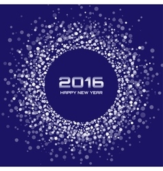 Blue White New Year 2016 Background vector