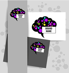 brain sign logo vector image