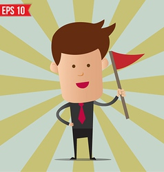 Business man holding flag - - EPS10 vector image