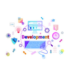 business strategy development concept project vector image