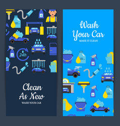 Card or flyer with car wash vector