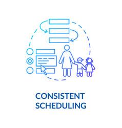 Children consistent scheduling concept icon vector