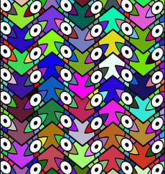 Color patterned background eye vector