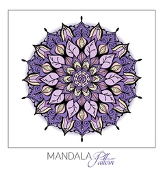 Coloured Mandala Decorative round ornament Element vector