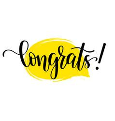 congrats lettering design vector image