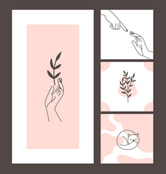 contemporary style cards vector image