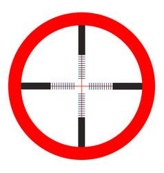 Crosshairs icon - target aim sniper symbol vector