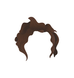 Curly hair photo booth prop costume vector