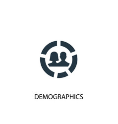 Demographics icon simple element vector