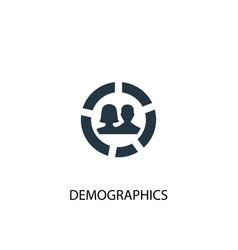 Demographics icon simple element vector