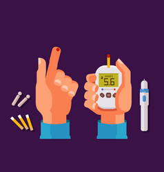 Diabetes health concept high blood sugar vector