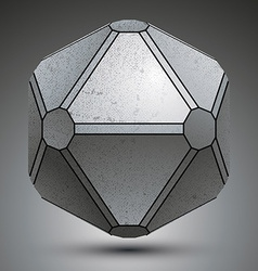 Dimensional galvanized object created from vector image