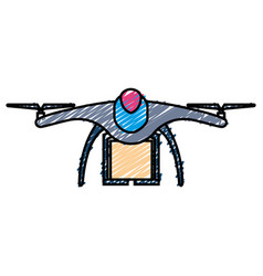 drone technology with box vector image