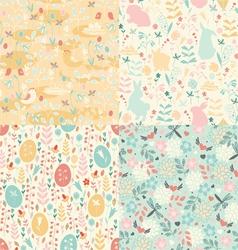 Easter set patterns vector