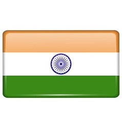 Flags India in the form of a magnet on vector