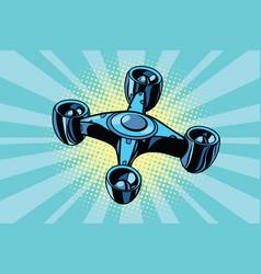 futuristic quadcopter drone vector image