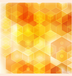 geometric orange background with triangular vector image