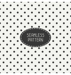 Geometric seamless polka dot pattern with circles vector image