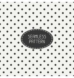 Geometric seamless polka dot pattern with circles vector image