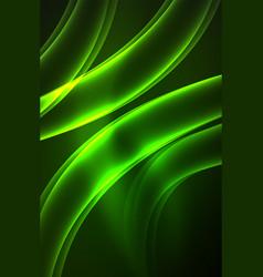 Glowing wave smoke vector