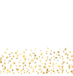 Gold stars confetti celebration isolated on white vector