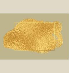 Golden foil premium texture frame background vector