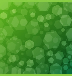 green geometric abstract techno background with vector image