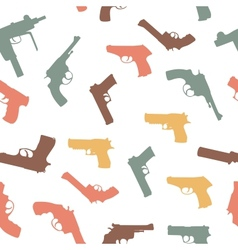 guns set seamless pattern vector image