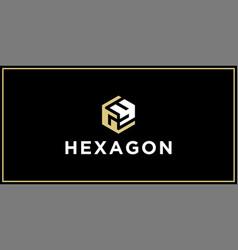 Gy hexagon logo design inspiration vector