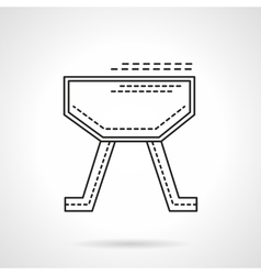 Gymnastics equipment flat line design icon vector