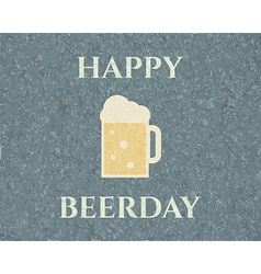 Happy beerday background Poster and banner design vector image