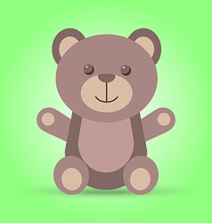 Happy brown teddy bear in vector image