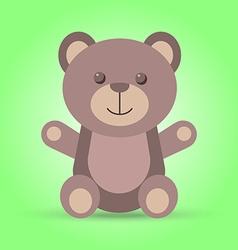 Happy brown teddy bear in vector image