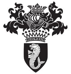 Heraldic silhouette No27 vector