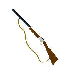 Hunt gun icon vector