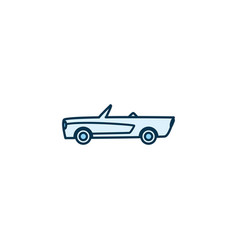 Isolated roadster car vehicle line style icon vector