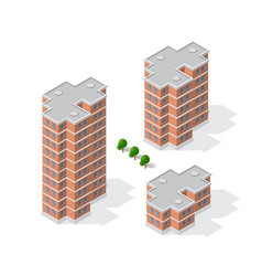 Isometric 3d dimensional building modern vector
