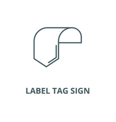 label tag sign line icon linear concept vector image