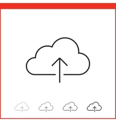 linear icon of upload vector image