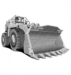 Loader engraving vector
