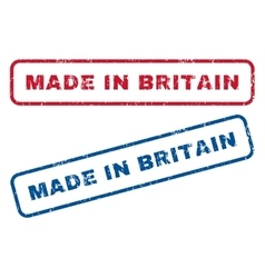 Made in britain rubber stamps vector