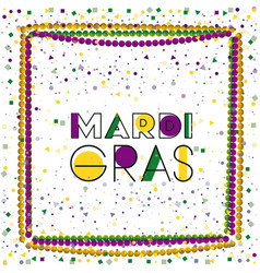 mardi gras colorful background with frame vector image