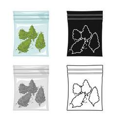 Marijuana and bag symbol vector